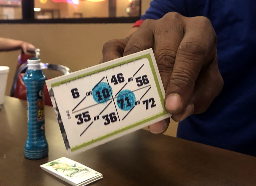 Victor Igbinedion shows us what one of the many games looks like at Florin Road Bingo.