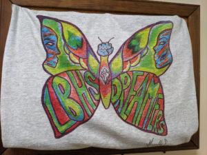 A T-shirt design of a butterfly