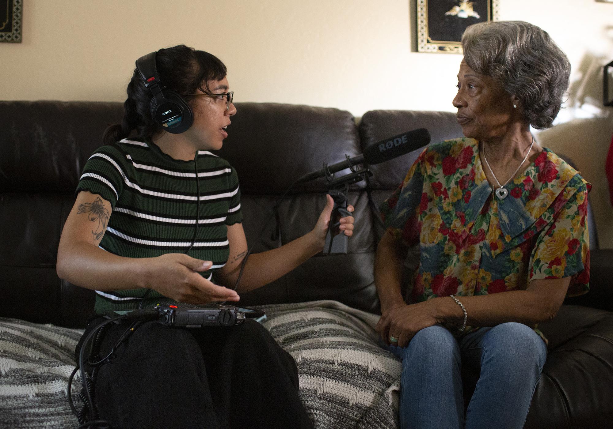 Shaylyn interviewing Dawn